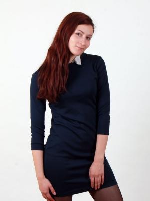 Платье Grace, темно-синее