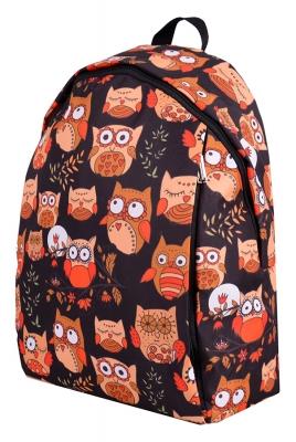 Молодежный рюкзак с совами Cute Owls черный, бренд Hotsy Totsy