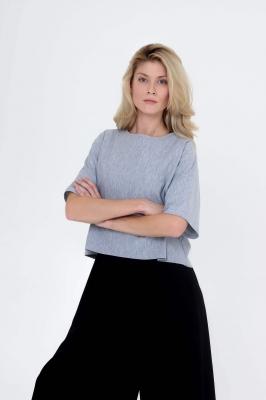 Блуза-футболка Grey wave