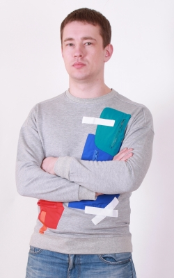 Мужской свитшот Red & Blue, серый