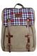 Городской рюкзак Scotland, хаки с клеткой, бренд Kansas