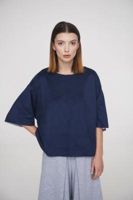 Блуза-футболка Navy, двухсторонняя замша