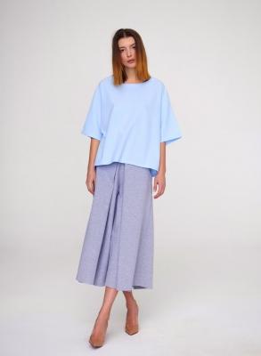 Блуза-футболка Serenity Blue, голубая