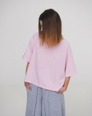 Блуза-футболка Rose Quartz, розовая