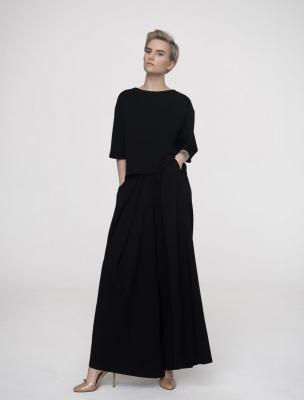 Блуза-футболка Total Black, черный