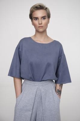 Блуза-футболка Arctic Ice, двухсторонняя замша