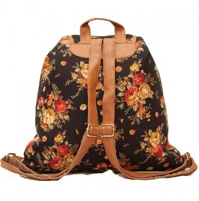 """Городской рюкзак-мешок """"Bouquet Black"""""""