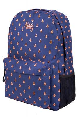 """Городской рюкзак Nikki Nanaomi """"Оранжевые якоря"""""""
