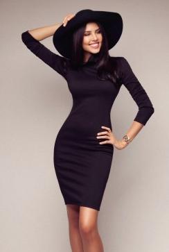 Концептуальное платье Dainty, черное
