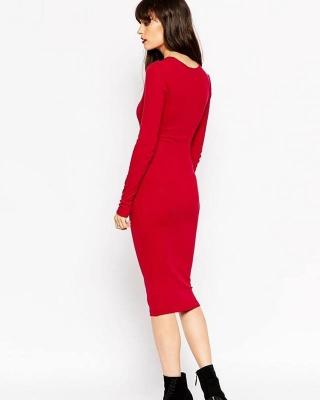 Концептуальное платье Dainty, красное