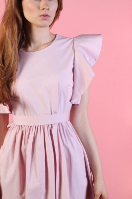 Платье Rosette с поясом, цвет розовый