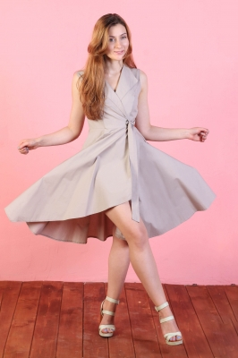 Платье Odri, цвет бежевый