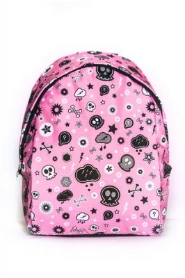 Молодежный рюкзак с черепом Braincase, розовый, бренд Hotsy Totsy
