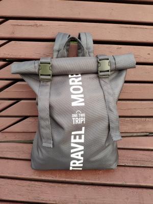 Рюкзак Roll-top, серый