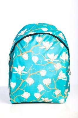 Молодежный рюкзак с цветочным принтом Floral, голубой, бренд Hotsy Totsy