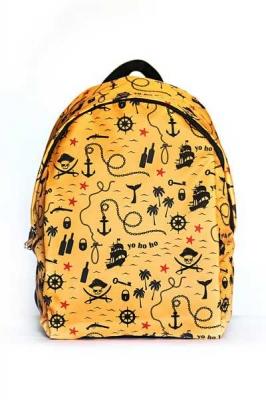 Молодежный рюкзак с принтами Travel, желтый, бренд Hotsy Totsy