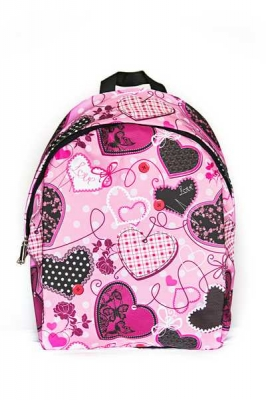 Молодежный рюкзак с сердечками Love, розовый, бренд Hotsy Totsy