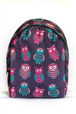 Молодежный рюкзак с совами Cute Owls, фиолетовый, бренд Hotsy Totsy