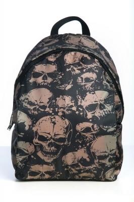 Молодежный рюкзак с черепом Braincase,черный,  бренд Hotsy Totsy