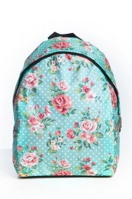 Молодежный рюкзак с цветочным принтом Floral,голубой, бренд Hotsy Totsy