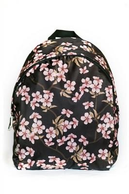 Молодежный рюкзак с сакурой Floral, черный, бренд Hotsy Totsy