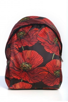 Молодежный рюкзак с цветочным принтом Floral,черный, бренд Hotsy Totsy