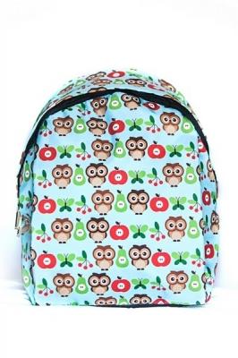 Молодежный рюкзак с совами Cute Owls голубой, бренд Hotsy Totsy