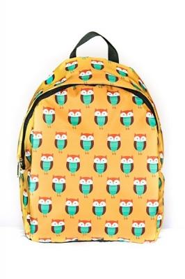 Молодежный рюкзак с совами Cute Owls, бренд Hotsy Totsy, желтый