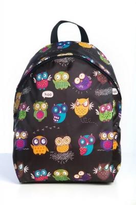 Молодежный рюкзак с совами Cute Owls фиолетовый, бренд Hotsy Totsy