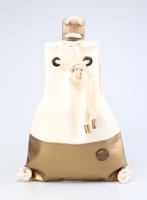 Рюкзак ZakBag, белый, бронзовый