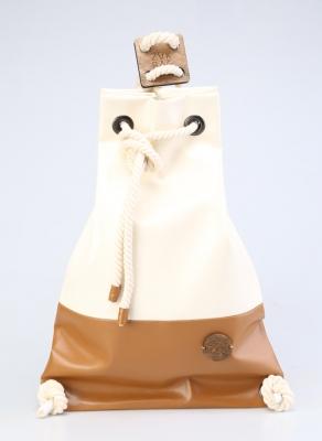 Рюкзак ZakBag, белый, светло-коричневый