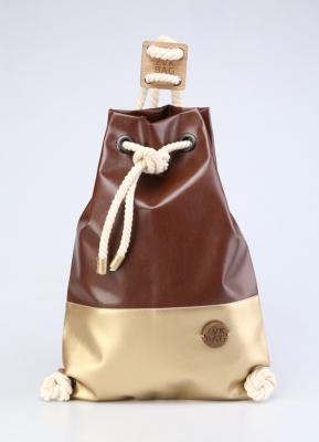 Рюкзак ZakBag, темно-коричневый, золотой