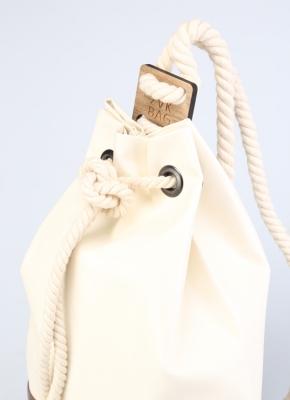 Рюкзак ZakBag, белый, темно-коричневый