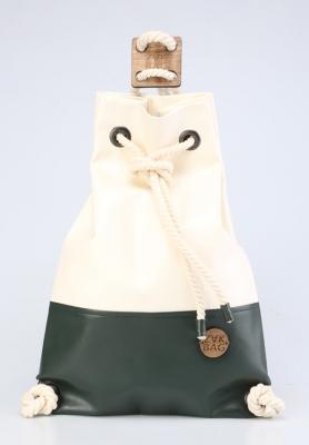 Рюкзак ZakBag, белый, темно-зеленый
