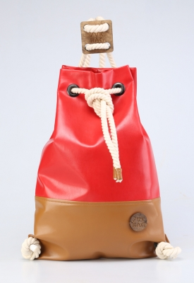 Рюкзак ZakBag, красный, светло-коричневый