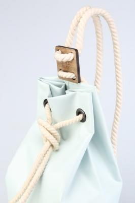 Рюкзак ZakBag, нежно-голубой с белыми завязками