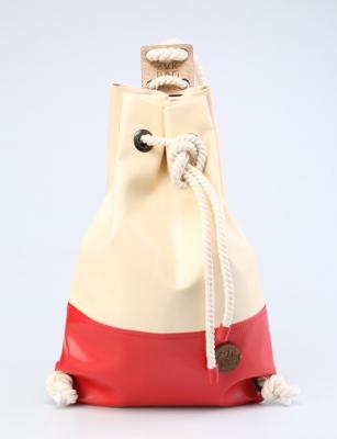 Рюкзак ZakBag, светло-бежевый, красный