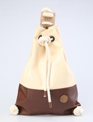 Рюкзак ZakBag, светло-бежевый, темно-коричневый