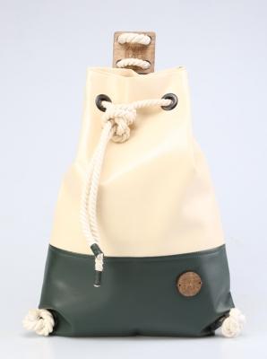 Рюкзак ZakBag, светло-бежевый, темно-зеленый