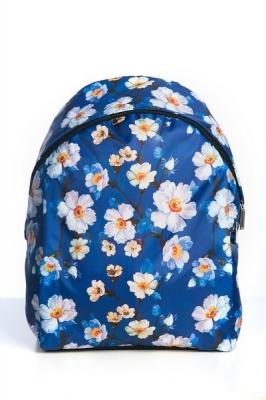 Молодежный рюкзак с цветочным принтом Floral, синий,бренд Hotsy Totsy