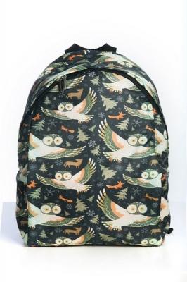 Молодежный рюкзак с совами Cute Owls зеленый, бренд Hotsy Totsy