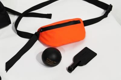 Cумка поясная Soft Touch, оранжевая