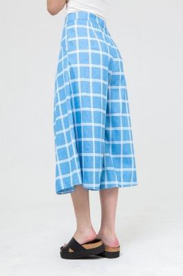 Брюки-кюлоты MarineDream голубые в клетку, бренд Futur Outfit