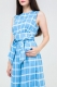 Комбинезон MarineWave, голубой в клетку, бренд Futur Outfit