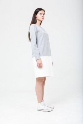 Платье Twotone серо-белое, бренд Futur Outfit