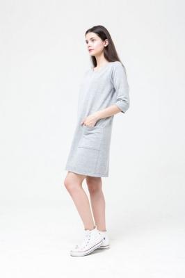 Платье с карманами Delicacy серое, бренд Futur Outfit