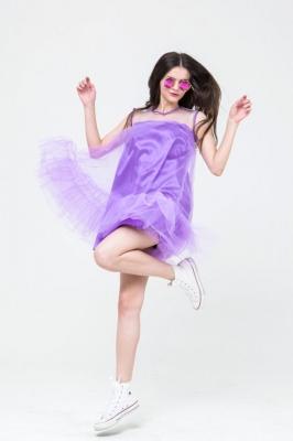Платье Fluffy-Puffy фиолетовое, бренд Futur Outfit
